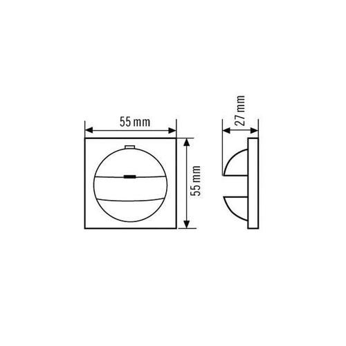EP10427169 Esy-Lux Abdeckung IP20-G55 weiss f. Gira G55 weiss Produktbild Additional View 2 L