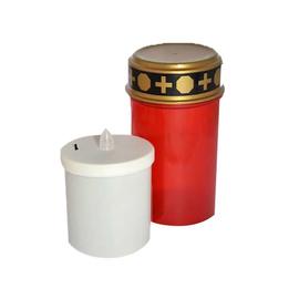 Elektronisches Grablicht mit Ein- und Ausschalter (inkl. Batterien) ROT Produktbild