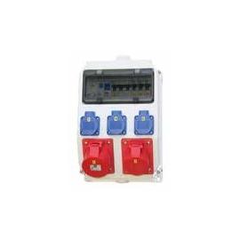 9135510 PCE WANDVERTEILER 1X32A/5P 1X16A/5P 3XSSD-1XLS16/3,3XLS16/1,1XFI40A Produktbild