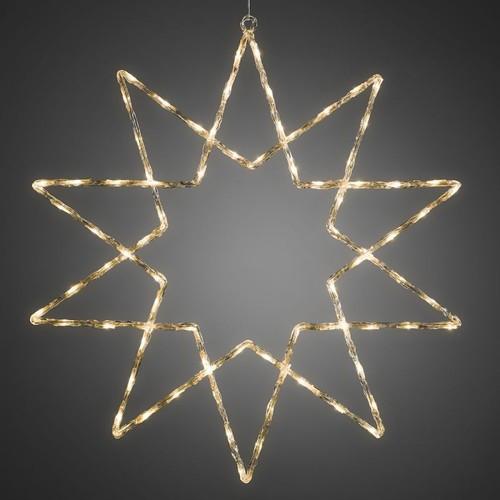 4482-103 KonstSmide LED Acryl Stern 10 Zacken, 40 warm weiße Dioden Produktbild Front View L