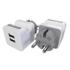2U-449436 2USB Steckerladegerät EU2USB-A easyChargePlugin weiß/grau (DuoPack=2St) Produktbild