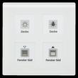 RF-GTA4W.01 MDT KNX RF Glastaster 4-Fah Plus mit Aktor weiss Produktbild