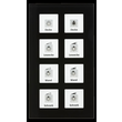 RF-GTA8S.01 MDT KNX RF Funk Glastaster 8-Fach Plus mit Aktor schwarz Produktbild