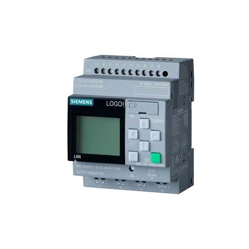 6ED1052-1MD08-0BA0 Siemens LOGO! 12/24RCE Logikmodul 8DE (4AE)/4DA Produktbild Front View L