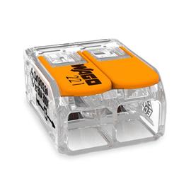 221-612 Wago COMPACT-Verbindungsklemme 2-Leiter-Klemme 6mm² transparent m.Hebel Produktbild