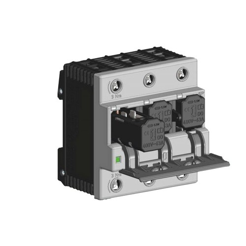 103303AF2 Coron Duo D0-Lasttrennschalter 3-polig, inkl.Sicherungen+Passhülsen 25A Produktbild Front View L
