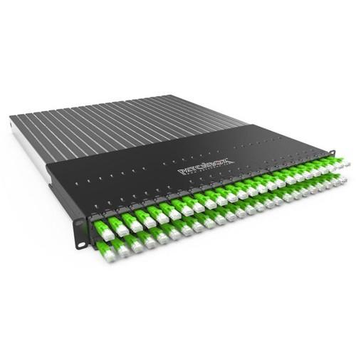 P60STPXC6XX24G Patchbox Plus+ STP grün Netzwerk Kabelmanagement Produktbild Front View L