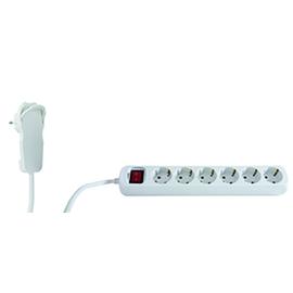 0012695114 REV Powersplit 6+1-fach Steckdosenleiste 5m weiß mit Schalter Produktbild