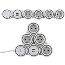 0015508115 REV SupraflexSteckdosenleiste mit USB 4 Schuko 2 USB 1,4m Produktbild