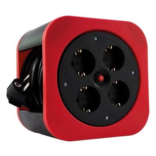 0010012600 REV Kabelbox S rot 4 Schuko 10m Thermoschalter Produktbild Front View L