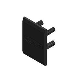 16596 ALUMERO 802601 Endkappe für Trägerprofil 37/45 PVC schwarz Produktbild