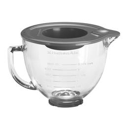 5K5GB KitchenAid  Klar-Glasschüssel 4,8L mit Griff + Silikondeckel Produktbild