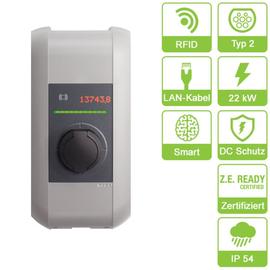 97912 Keba KC-P30-ES240022-E0R c-series EN Type2 Socket 22kW-RFID Produktbild