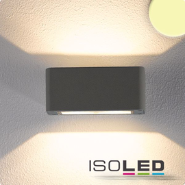 112199 Isoled LED Wandleuchte Up&Down, IP54, 4x3W CREE, anthrazit, warmweiß Produktbild
