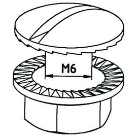 10197 Trayco BN06-10-EG Rundkopfschraube mit Mutter Produktbild