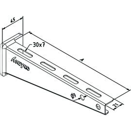 14245 Trayco WB15-0400-DG Wandausleger 400 1,5kN Produktbild