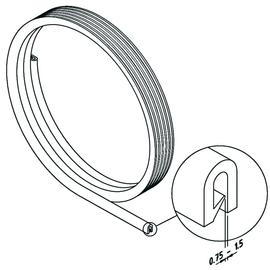 12282 Trayco CT-PR-PVC-K Kantenschutz- band schw. (VPE 10m) 0,75-1,5mm Bel.stä. Produktbild