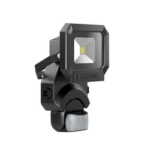 EL10810084 Esylux AFL SUN LED 10W 5K BK Fluter mit Bewegungsmelder 900lm schwarz Produktbild Front View L