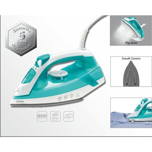 7955 2112 Trisa Bügeleisen Classic Steam i5521 türkis Produktbild Front View L
