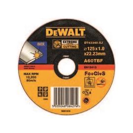 DT43902-QZ DeWalt Trennscheibe Edelstahl flach 125x1mm Produktbild
