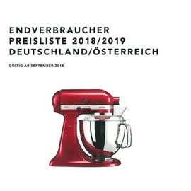 KitchenAid Endverbraucher Preisliste Prospekte 2018/2019 Produktbild