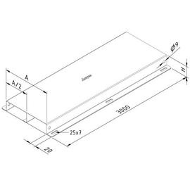 15714 Trayco FS-FDL38-350-2C-3PG Unterflurkanal 2-zügig 350mm Produktbild