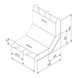 15731 Trayco FS-FD-RB38-250-2C-PG Steigestück 2-zügig 250mm Produktbild