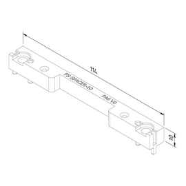 16032 Trayco FS-SPACER-10-PA9011 Abstandhalter 10mm f. Deckel edelstahl Produktbild