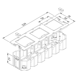 15647 Trayco FS-AC-HO-260-3-50-PA9011 Gerätebecher schwarz Produktbild
