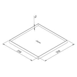15959 Trayco FS-BC13-SQ-260-WP-SS304 Blinddeckel quadratisch edelstahl Produktbild