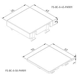 15651 Trayco FS-BC-0-45-PA9011 Blinddeckel f. Gerätebecher Modul 45 Produktbild