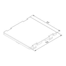 15652 Trayco FS-BC-0-50-PA9011 Blinddeckel für Gerätebecher Produktbild
