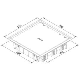 15777 Trayco FS BC8 CE SQ 260 PA7011 Blindd. quadr. Teppichrand Produktbild