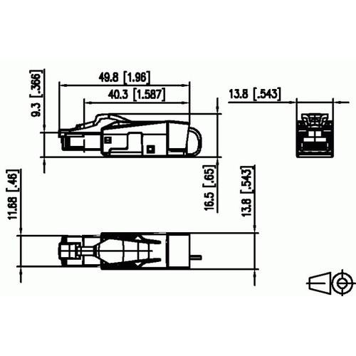 130E405032-E Metz Connect CAT.6A Stecker RJ45 Feldkonfektionierbar Werkzeuglos Produktbild Additional View 1 L