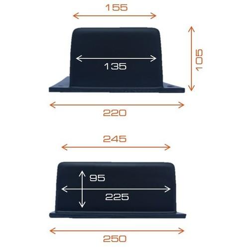 BED250 Tefact Betoneinbaudose zum Einbau in Stahlbetondecken und Wände Produktbild Additional View 2 L