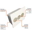 BED250 Tefact Betoneinbaudose zum Einbau in Stahlbetondecken und Wände Produktbild Additional View 3 S