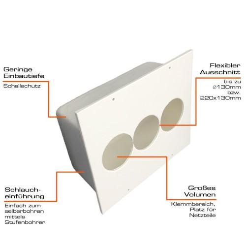 BED250 Tefact Betoneinbaudose zum Einbau in Stahlbetondecken und Wände Produktbild Additional View 3 L