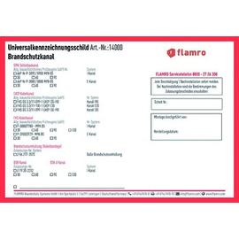 14000 FLAMRO Schottaufkleber Universalkennzeichnungsschild Produktbild