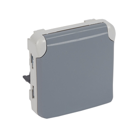 69575 LEGRAND FR AP Schuko-Steckdose Einsatz für Kombination grau PLEXO IP44 Produktbild
