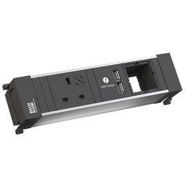 916.0510 Bachmann Power Frame Steckdoseneinheit 3fach 1x UK 1x USB Ch Produktbild