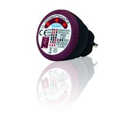 TESTAVIT SCHUKI 1A Steckdosenprüfgerät LED CAT II 300 V Testtaste 30mA Produktbild
