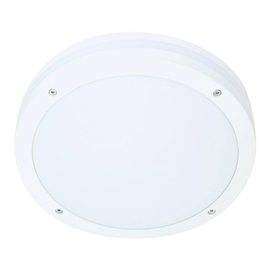 641821 Eltropa Discos Wand/Deckenleuchte IP65 LED 19W 1230lm 3000K ws-matt m.Sen Produktbild