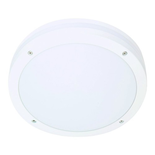 641821 Eltropa Discos Wand/Deckenleuchte IP65 LED 19W 1230lm 3000K ws-matt m.Sen Produktbild Front View L