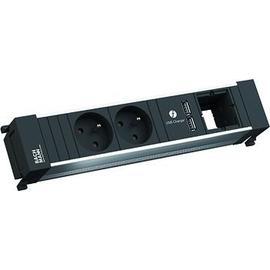 916.0411 Bachmann Power Frame 2xUTE 1xUSB 1xABD Strom 0,2m GST18 Produktbild