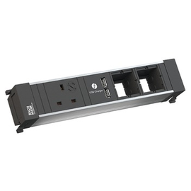 916.0516 Bachmann Power Frame 1xUK 1xUSB Charger 2xABD Strom 0,2m GST18 Produktbild
