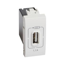 N4285C1 Bticino LL USB LADEMODUL 1MOD WEISS Produktbild