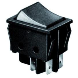 33024 Scharnberger+H. Wippschalter 2pol. schwarz/rot-tr. Produktbild