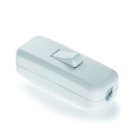 992422 Houben Schnurschalter, weiß 250V/2A, einpolig, Ein/Aus mit Wippe, Z Produktbild