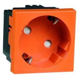 D 6211.33 EMS SI WI Peha Steckdose SCHUKO, orange erhöhter Berührungsschut Produktbild