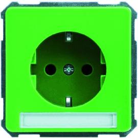 205017 Schneider Elec. Steckdose mit Schriftfeld 16A FASHION/RI Produktbild